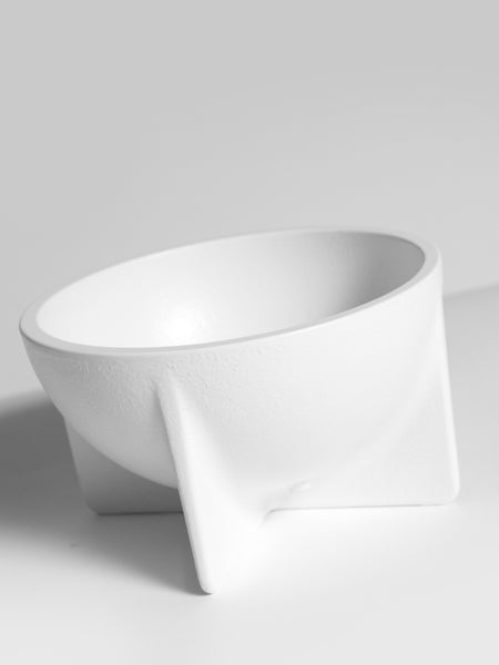 Small Standing Bowl White by Fort Standard