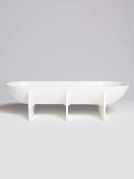 Large Standing Bowl White by Fort Standard