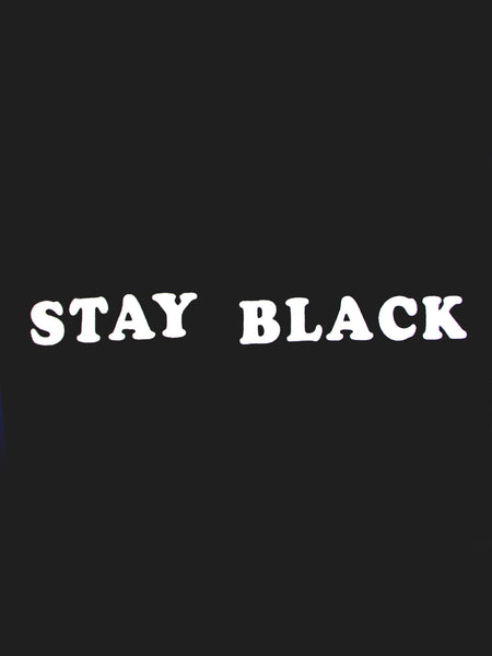 Stay Black Tee by Willy Chavarria