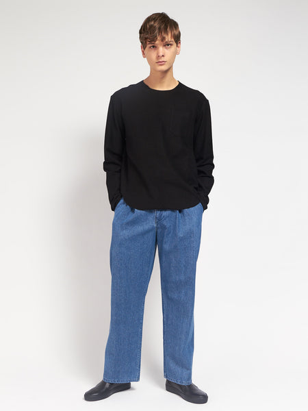 Longsleeve Terry Tee Black by Assembly New York