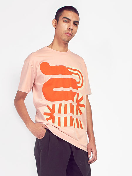 Whoop Tee - Coral Cloud by Henrik Vibskov