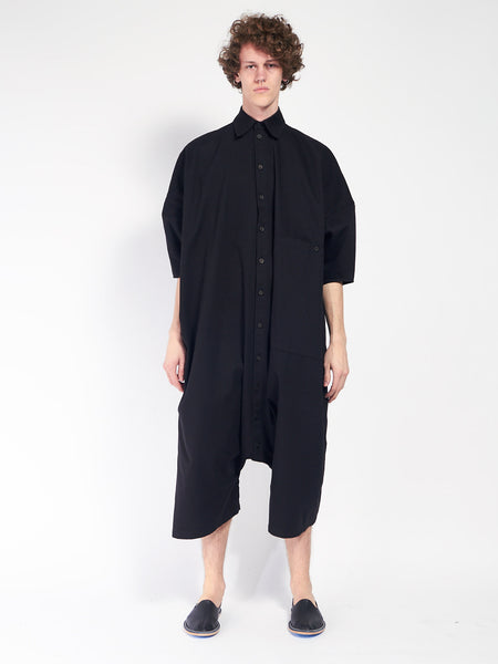 Big Button Up Jumpsuit - Black by 69