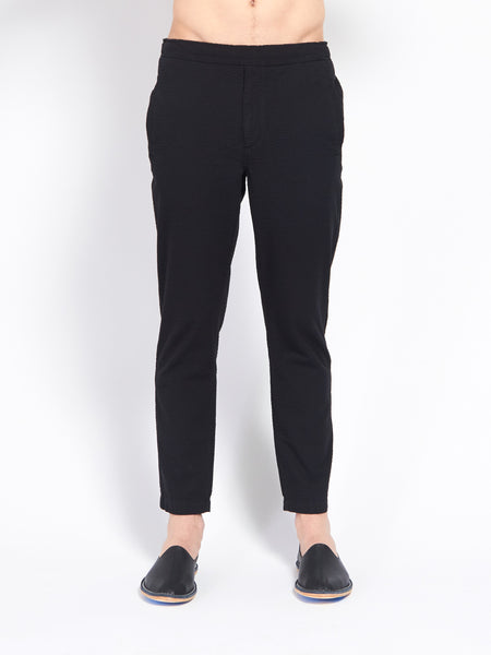 Illusions Trouser Black Seersucker by Uniforms For The Dedicated