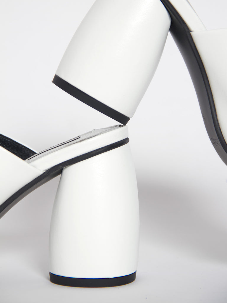 Closed Toe Mule - White by Reike Nen