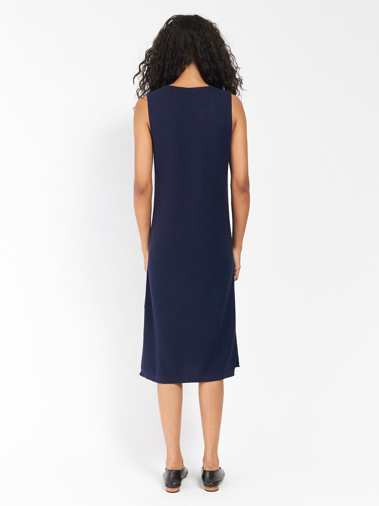 Ali Golden - Knit V-Neck Dress by Ali Golden