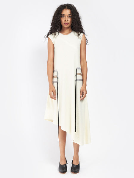 Multi Pull Dress Ivory by CF Goldman