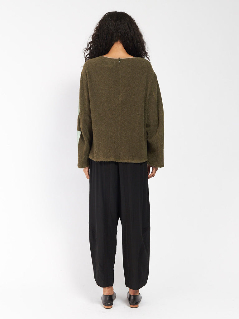 Patch Pullover Green by CF Goldman