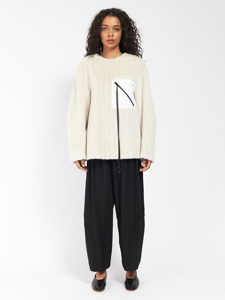 Patch Pullover Cream by CF Goldman