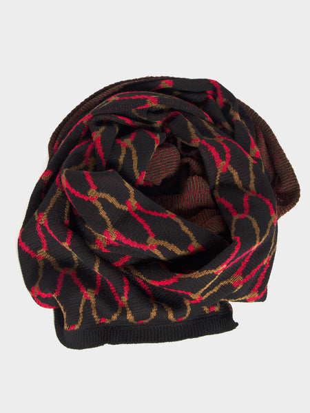 Reality Studio - Net Plaid Scarf Black by Reality Studio