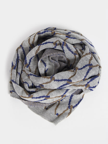 Net Plaid Scarf Grey by Reality Studio