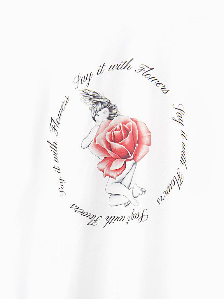 Say It With Flowers L/S Tee by Adam Selman