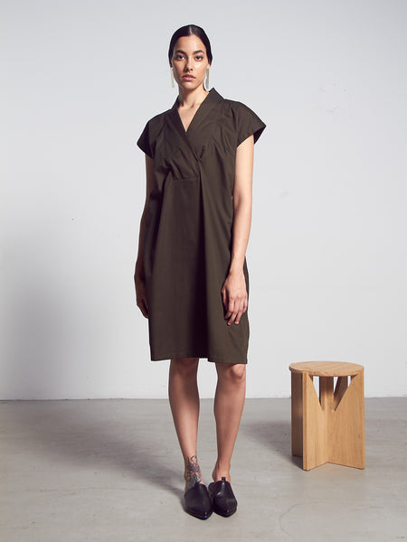 Hunter Dress - Dark Moss by Kowtow
