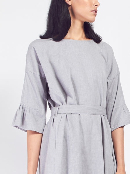 Shutter Dress - Grey Melange by Kowtow