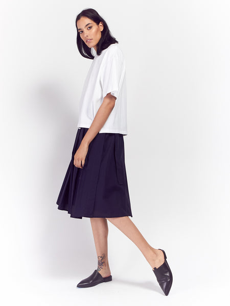 Building Block Boxy Tee - White by Kowtow