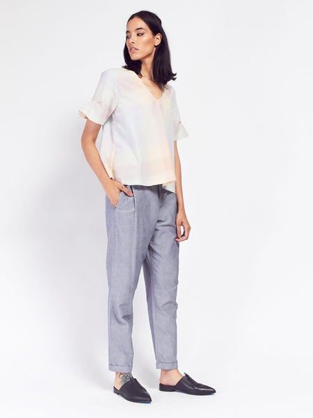 Daze Top - Pastel Check by Kowtow