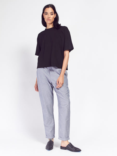 Building Block Boxy Tee - Black by Kowtow