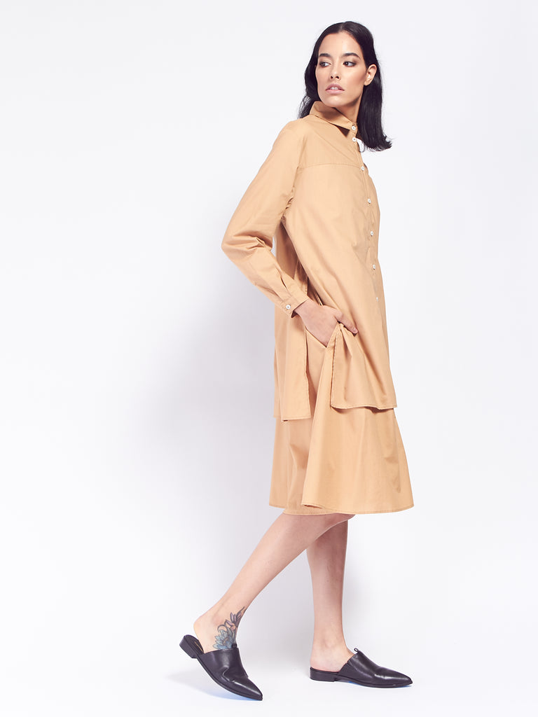 Rhyme Dress - Tan by Kowtow