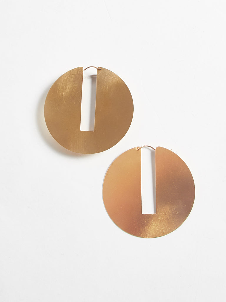 Split Disc Hoops by Lila Rice