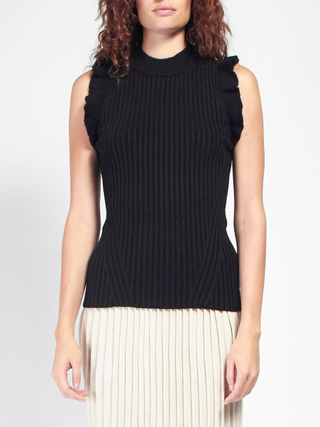 Mara Sweater Ruffle Tank by Eleven Six