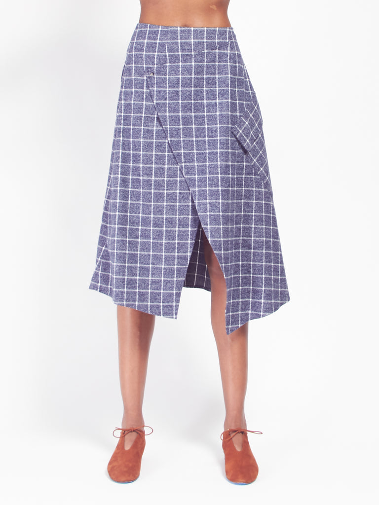 Wyckoff Wrap Skirt by Scapes NY