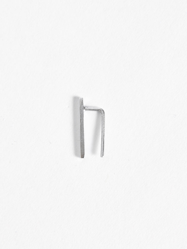 Small Bar Ear Pin Silver by Kristen Elspeth