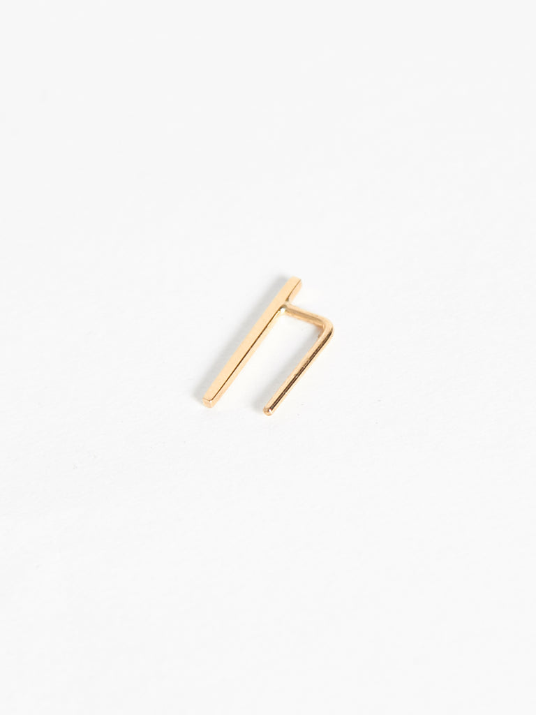 Small Bar Ear Pin Gold by Kristen Elspeth