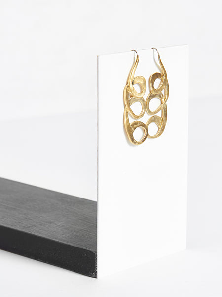 Circe Earrings Brass by Pari Desai