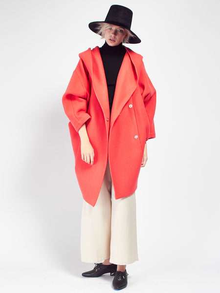 Xiong Coat with Hood - Raspberry by Reality Studio