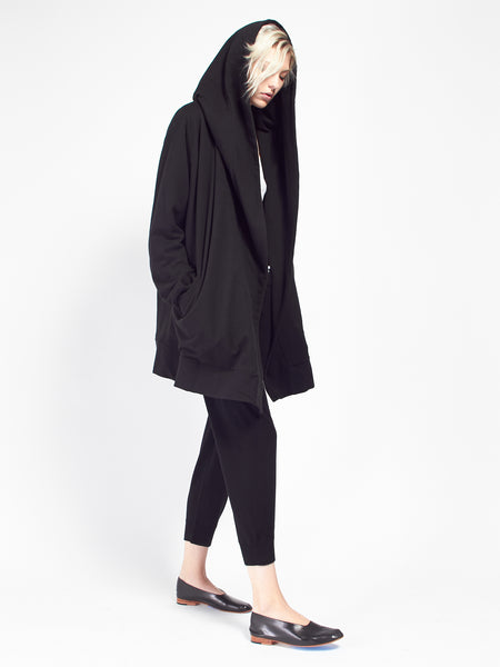 Hooded Cocoon Coat by Skin