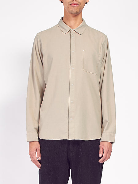 Flannel Pop Stud Shirt - Sand by Folk