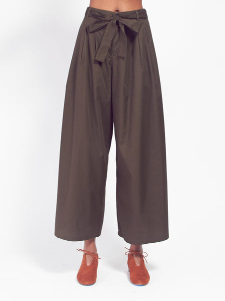 Coast Pant - Dark Moss by Kowtow