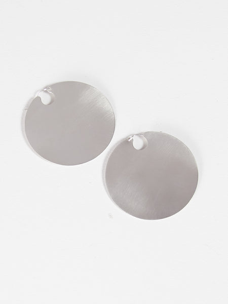 Disc Hoops Silver by Lila Rice
