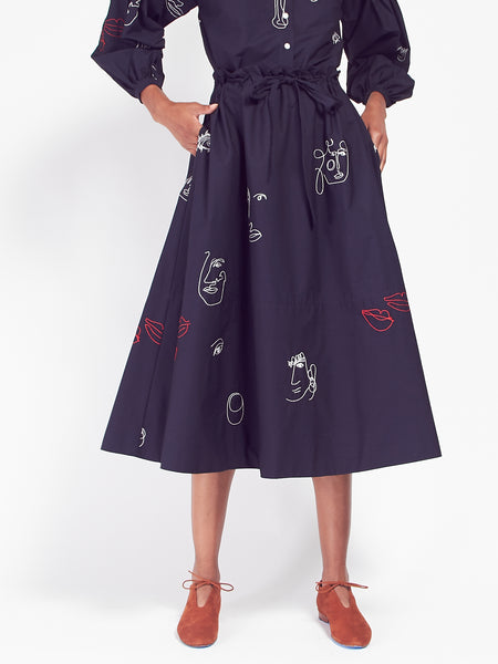 Kit Skirt Navy by Mr. Larkin