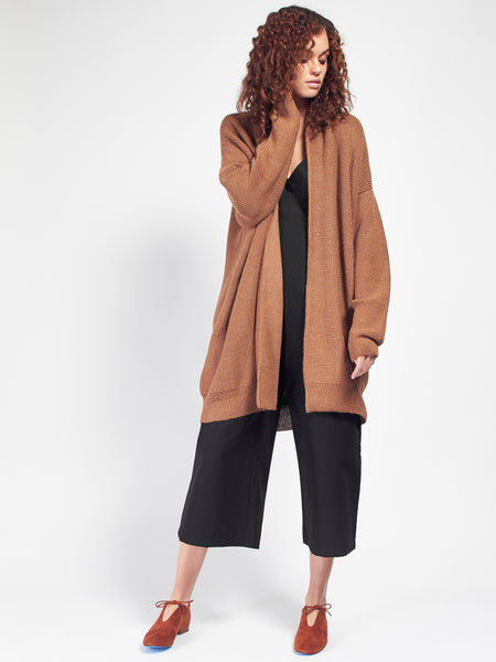 Chunky Cardigan - Chestnut by Ali Golden