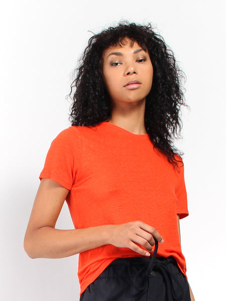 Ninja Linen Tee - Blood Orange by Rodebjer