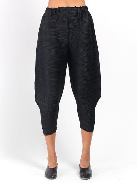 Pleats Bounce Pant - Black by Issey Miyake Pleats Please