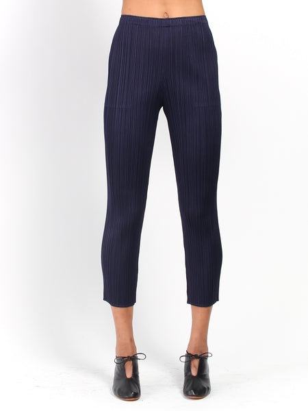 Pleats Pant - Navy by Issey Miyake Pleats Please