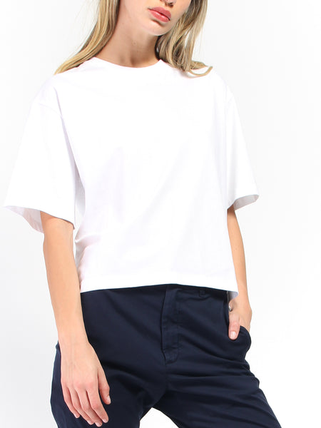 Boxy Tee - White by Kowtow