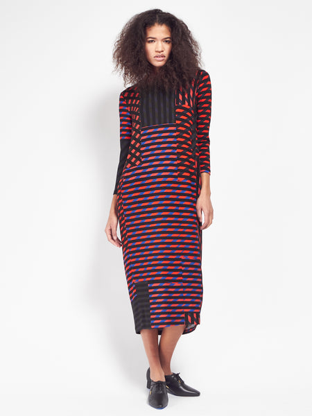 Beat Dress - Crazy Stripes by Henrik Vibskov