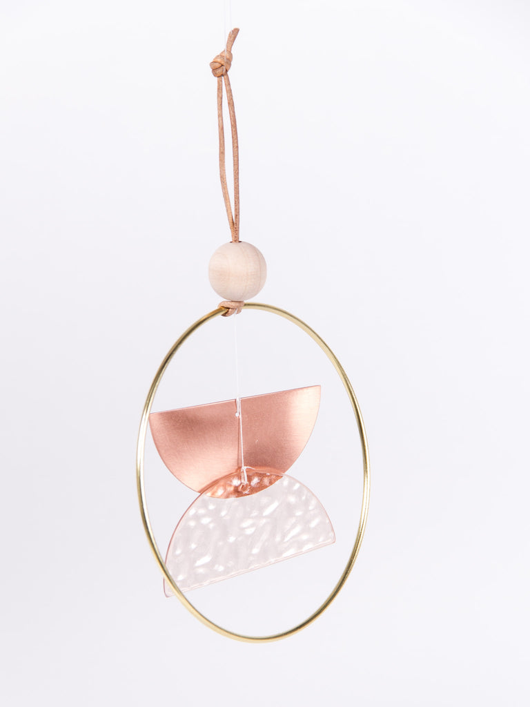 Mini Chime Double Dome Pink/Copper by Ladies & Gentlemen