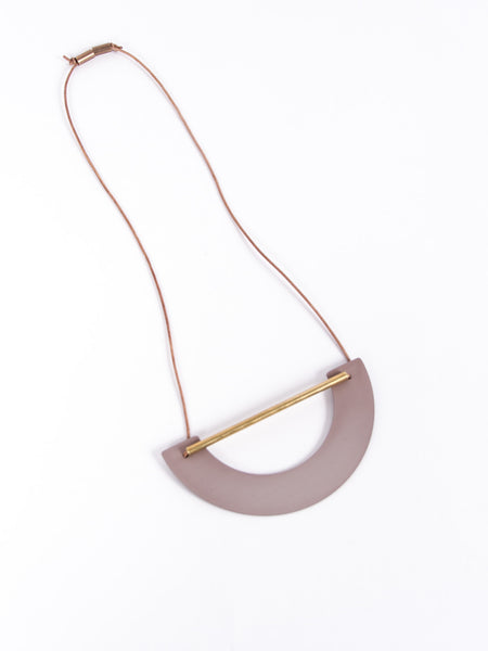 Big Arch Necklace Mauve by Ladies & Gentlemen