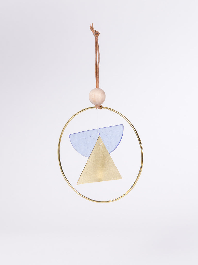 Mini Chime Double Dome Blue/Brass by Ladies & Gentlemen