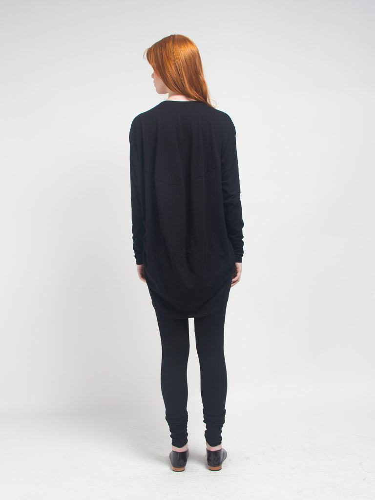 Drape Back Top Black by Kowtow
