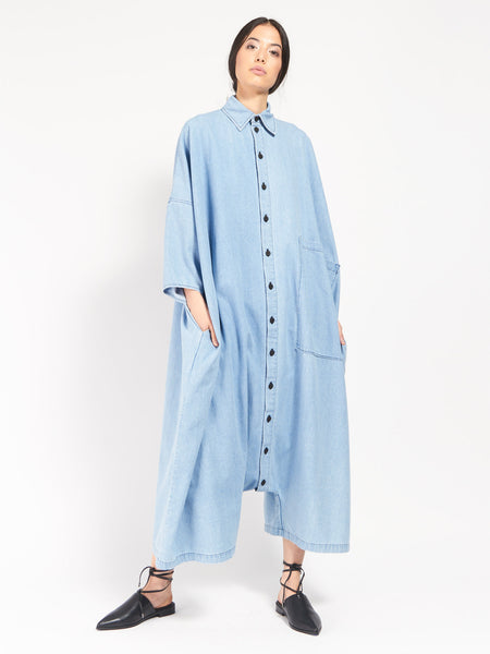Big Button Up Jumpsuit - Denim by 69