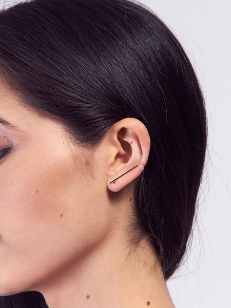 Bar Ear Pin Gold by Kristen Elspeth