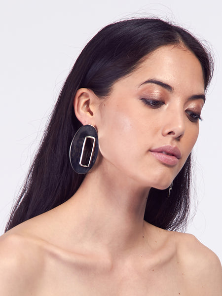 Oval Marx Earrings by Anndra Neen
