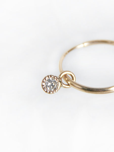 Tiny Hoop Earrings with Diamonds by Vale