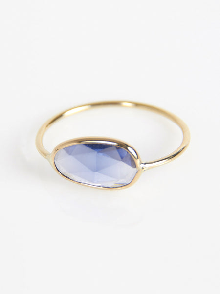 Rose Cut Sapphire Slice Ring by Vale