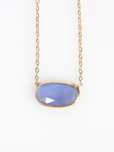 Rose Cut Sapphire Slice Necklace by Vale