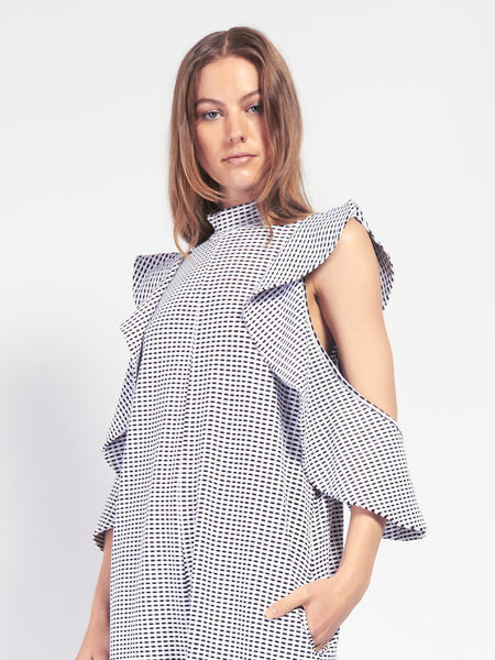 Girona Dress - Black & White by Rodebjer
